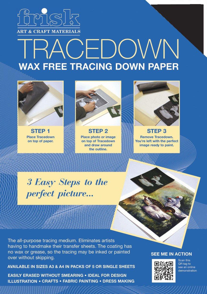 Frisk Tracedown - Papel de calco gráfico (A4, 5 unidades), color blanco: Amazon.es: Oficina y papelería