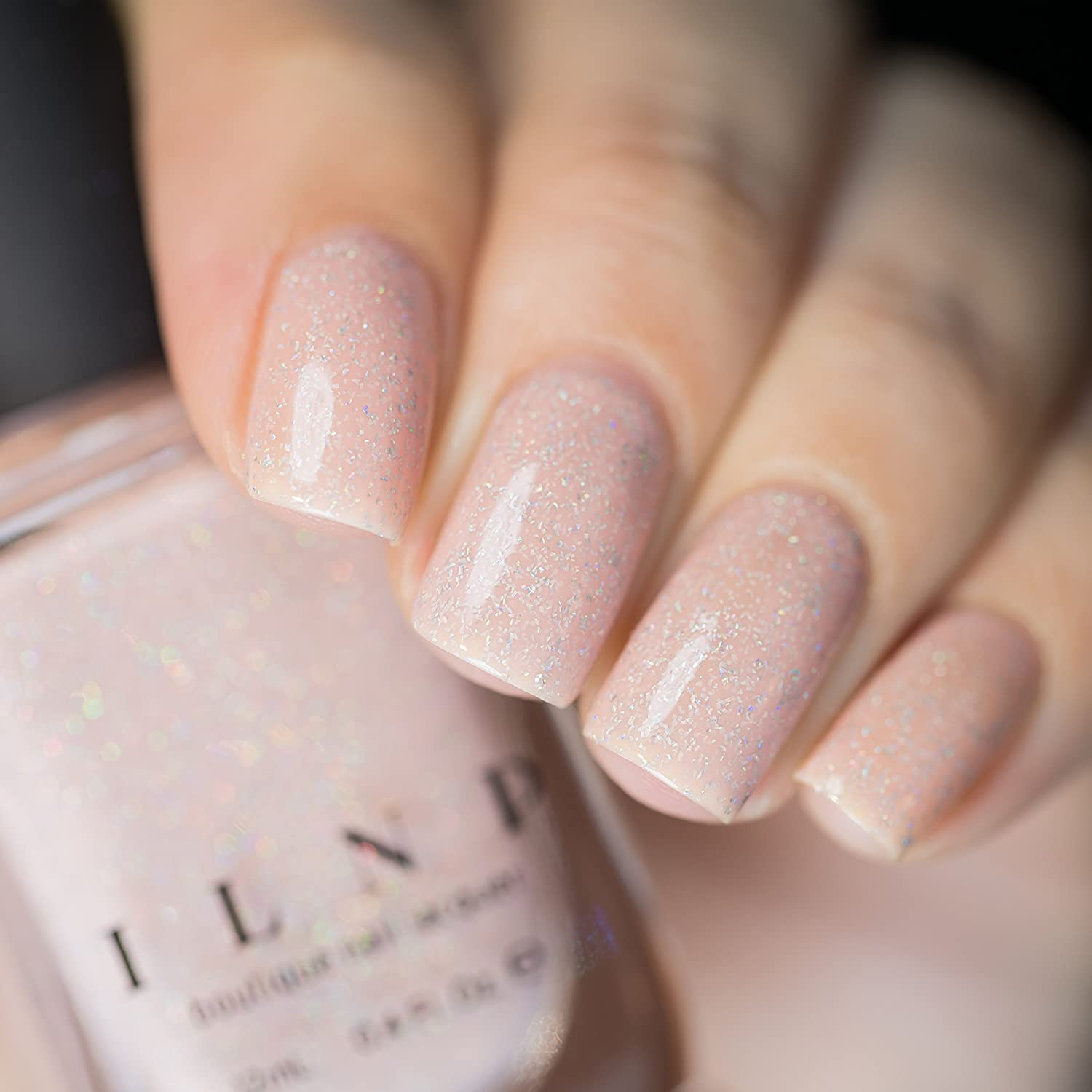 Amazon.com : ILNP Birthday Suit - Cashmere Pink Holographic Nail ...