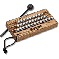 TreeWorks Chimes (MADE IN U.S.A.) Three Tone Energy Chime for Meditation and Classroom Use includes Mallet and Cord Handle (VIDEO) (TRE420)