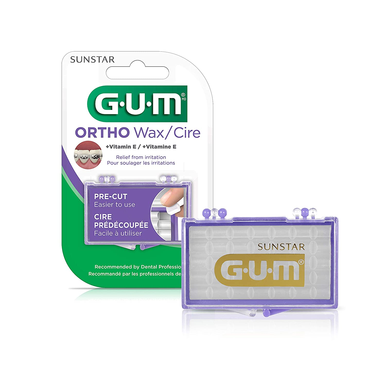 GUM Orthodontic Wax with Vitamin E (Pack of 6)