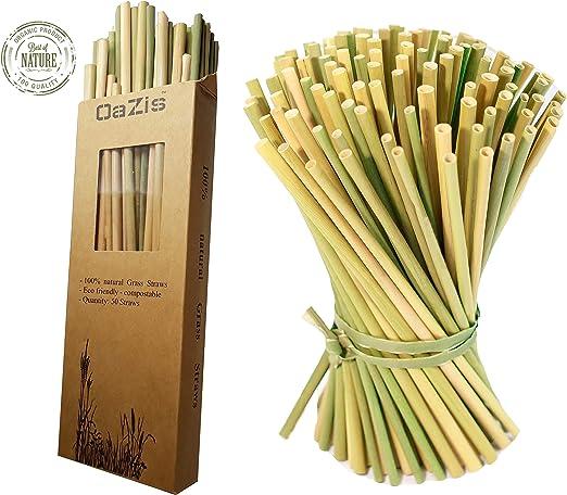Pajitas reutilizables hechas de hierba | ecológicas, sostenibles ...