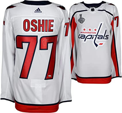 T.J. Oshie Washington Capitals 2018 Stanley Cup Champions Autographed White  Adidas Authentic Jersey with 2018 Stanley 468450dc00e