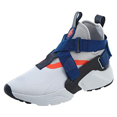 c83c6662eab2 Nike Air Huarache City White Vast Grey-Gym Blue (Womens) (6