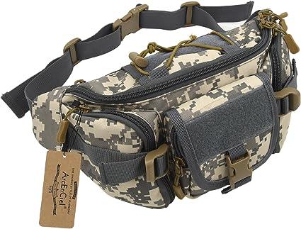 Men Bum Bag Unisex Colour Camouflage Bumbag Adjustable Belt Pouch Waist Money