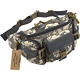 ArcEnCiel Water Resistant Tactical Waist Pack Bag Military Fanny Packs Hip Belt Bag Pouch for Hiking Climbing Outdoor Bumbag