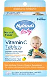 Hyland's Baby Vitamin C Tablets, Natural Dietary Supplement, 125 Count
