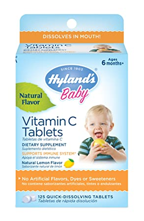 Bebé, tabletas de vitamina C, Limón natural de sabores, 125 Tablets - Hyland: Amazon.es: Salud y cuidado personal