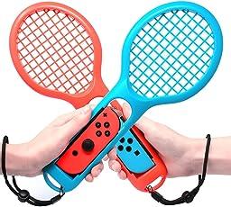 EFFE Raqueta de Tenis para Nintendo Switch Joy-con Controller, Accesorios para Nintendo Switch Juego Mario Tennis Aces, Azul + Rojo