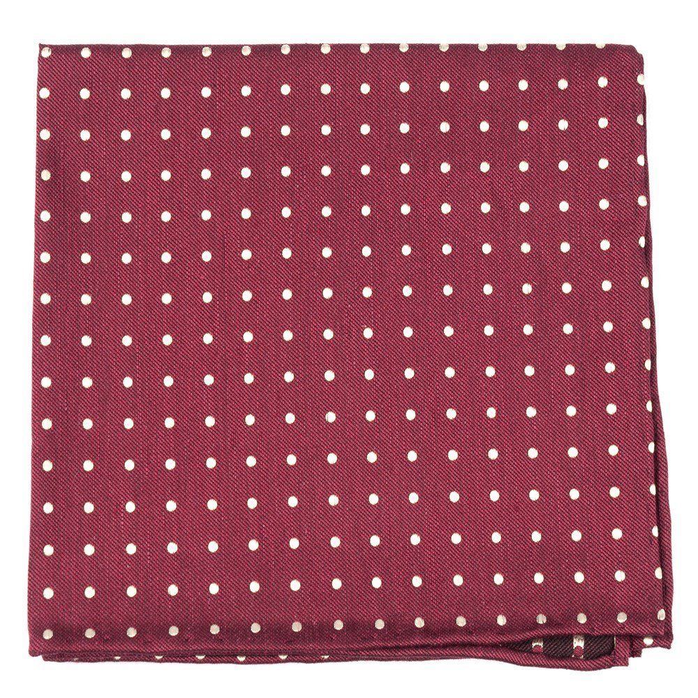 The Tie Bar Dotted Dots Linen Blend Pocket Square 889938321223