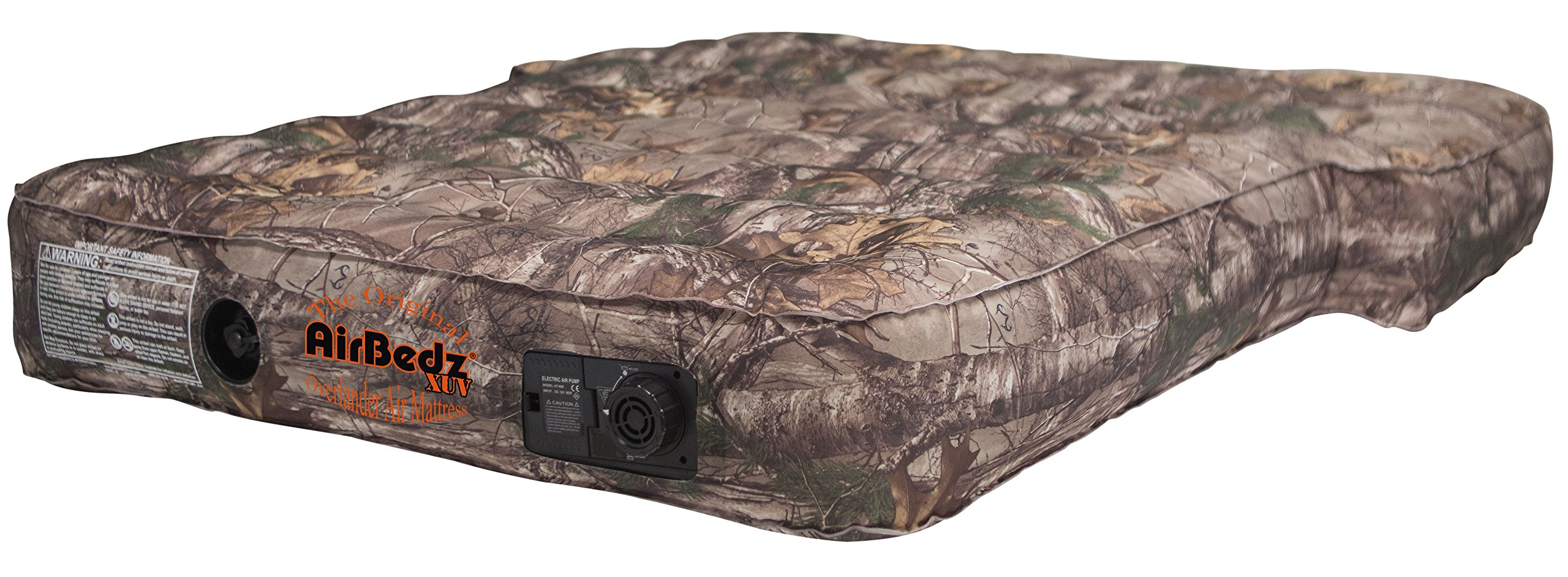 AirBedz PPI-CMO_XUV Camouflage Jeep, SUV & Crossover Vehicle Rear Seats Mattress (with Built-in Rechargeable Battery Air Pump) by AirBedz