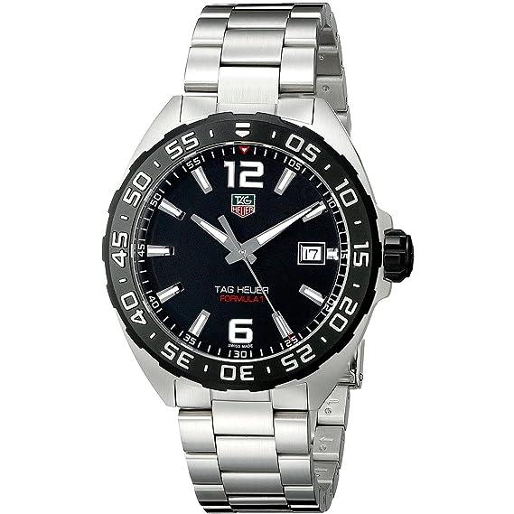 TAG Heuer WAZ1110.BA0875 - Reloj, Correa de Acero Inoxidable Color Plateado: Amazon.es: Relojes