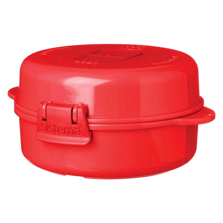 270 ml cocinar Tortilla Sistema Olla de Vapor para Arroz Color Rojo Apta para microondas f/ácil de Huevos