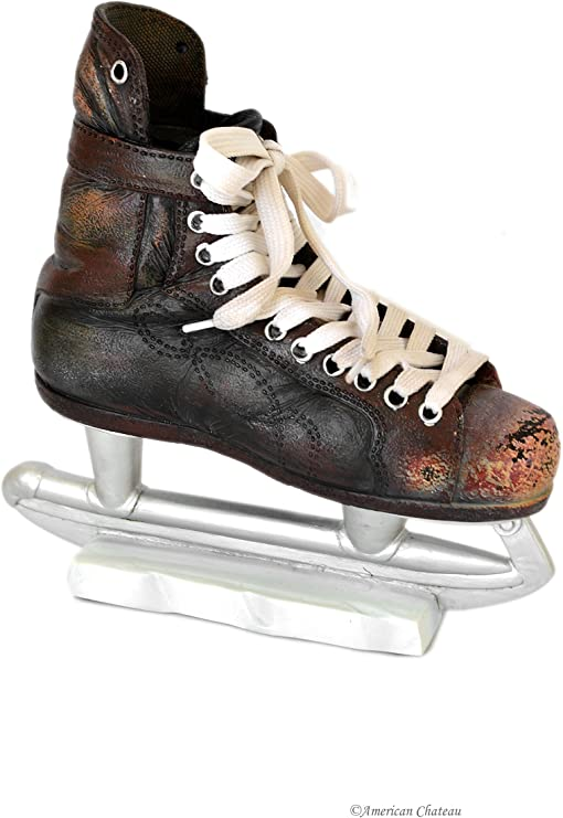 7 Kids Room Decor Black Ice Hockey Skates Money Piggy Bank
