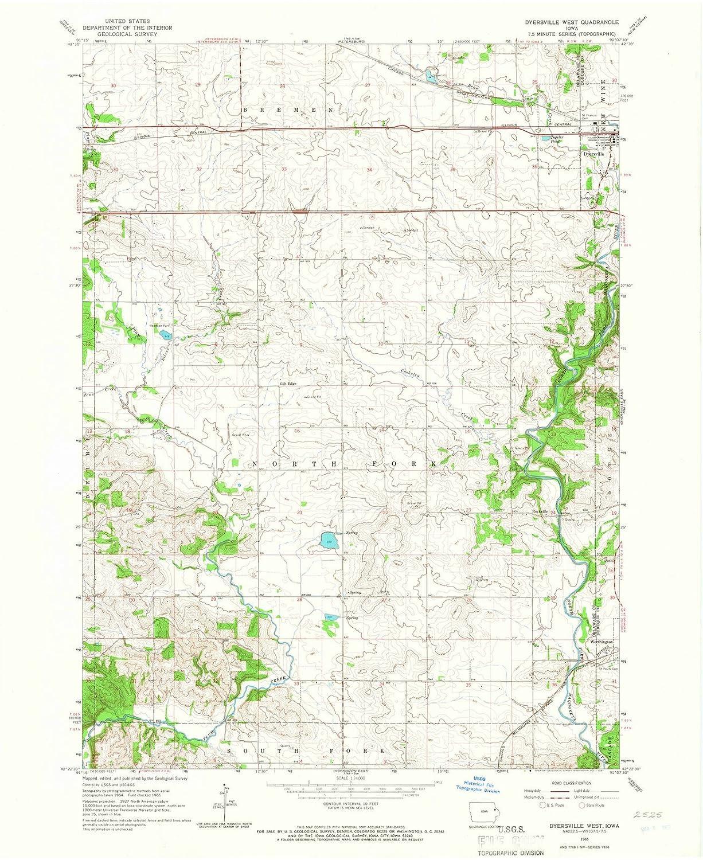 Amazon Com Iowa Maps 1965 Dyersville West Ia Usgs Historical