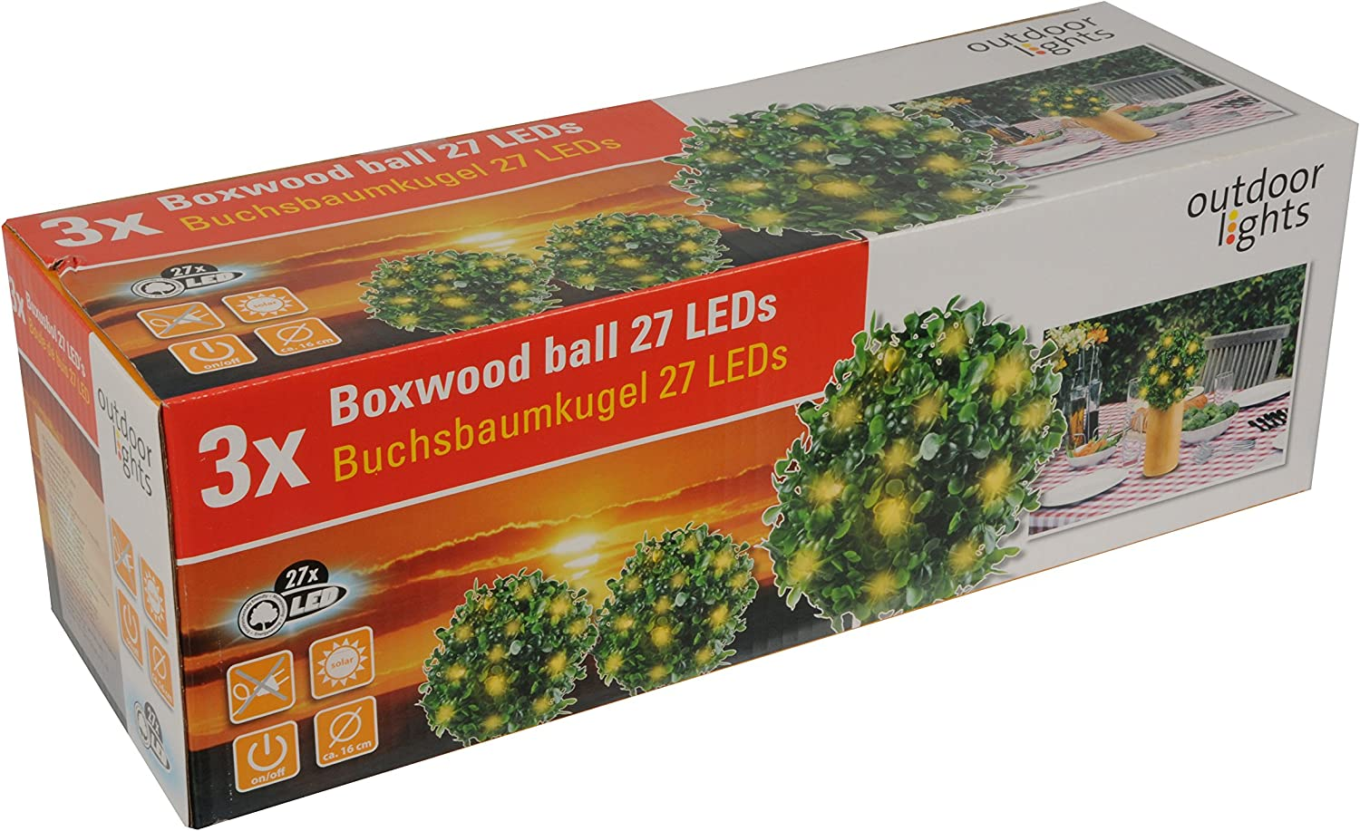 Outdoor Lights Solar Buxus 9 Led 33 X 16 Cm 51701 Beleuchtung
