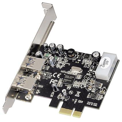 Hama 53322 - Tarjeta de expansión (PCIe, 2 x USB 3.0, 5 Gbit ...