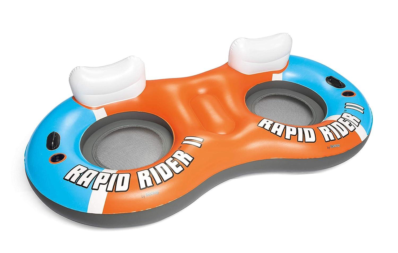 Flotador con Respaldo Bestway Rapid Rider 251x132 cm: Amazon.es ...