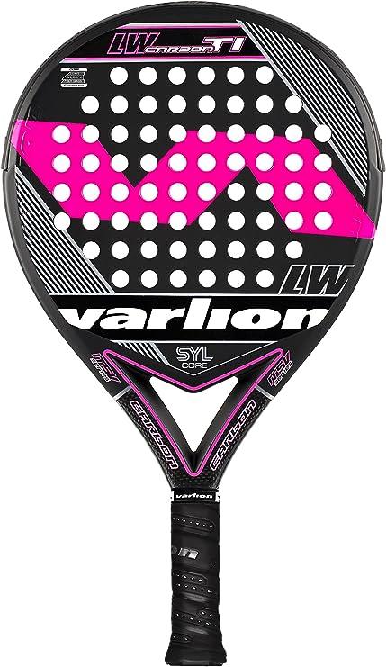 VARLION L.W. Carbon Ti SYL - Pala de pádel Unisex, Color Rosa ...