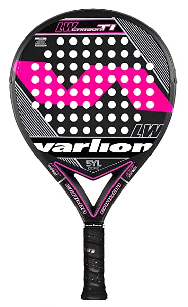 VARLION LW Carbon Ti SYL - Pala de pádel Unisex, Color Rosa