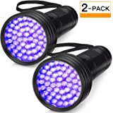 Mumoo Bear 51 LED Ultraviolet Blacklight Urine Detector, Black, Pack of 2