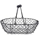 Wire Egg Basket, Egg Gathering Basket - Liam, Vintage Black, by EggBaskets