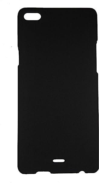 SDO Luxury Matte Finish Rubberised Slim Hard Case Back Cover for Micromax Canvas Silver 5 Q450   Black Cases   Covers