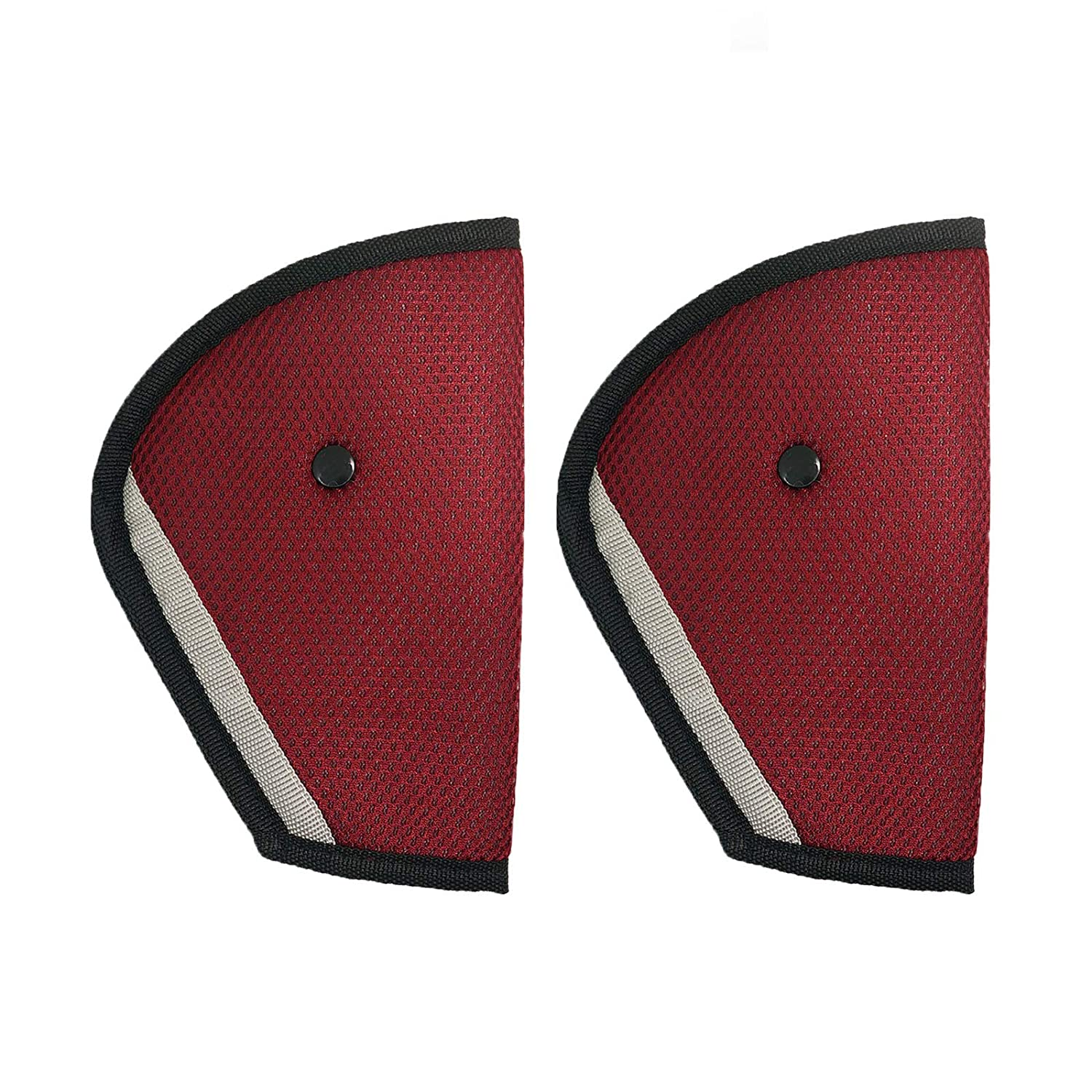 Red Wittyware 2 pcs Seat Belt Adjuster for Children Kids Adults Safety Belt Cover Strap Shoulder Belt Pad Clips