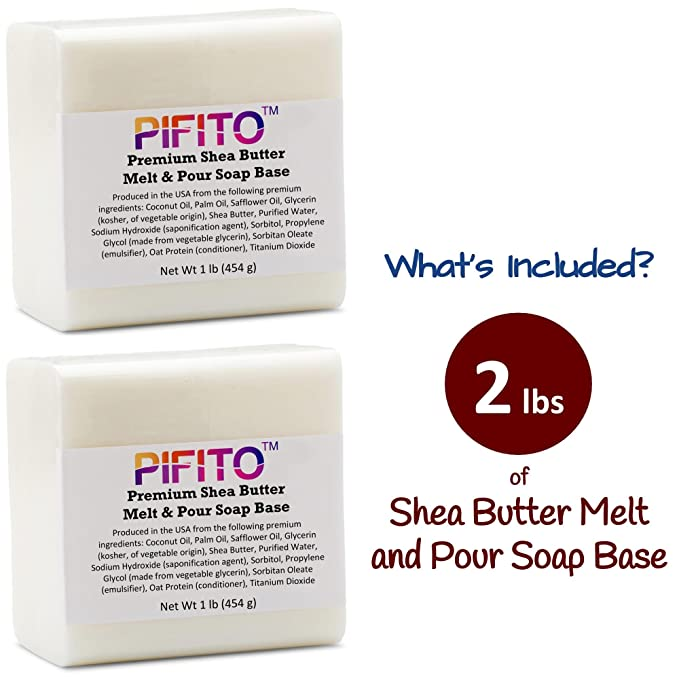Pifito Premium Shea Butter Melt and Pour Soap Base /(2 lb/) - 100/% Natural  Glycerin ...