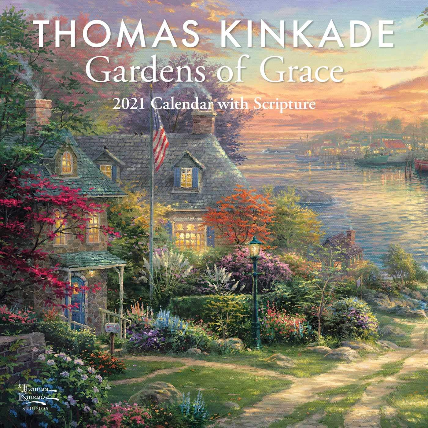 Thomas Kinkade Desk Calendar 2021 Background