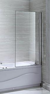 eurobathrooms ltd parete in vetro per vasca con doccia misure 80 x 140 cm
