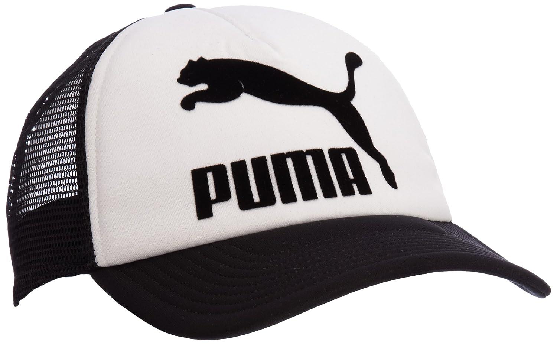 c3f037d2fe0 Puma Hudson Trucker Cap One Size White white-black Size One Size   Amazon.co.uk  Sports   Outdoors