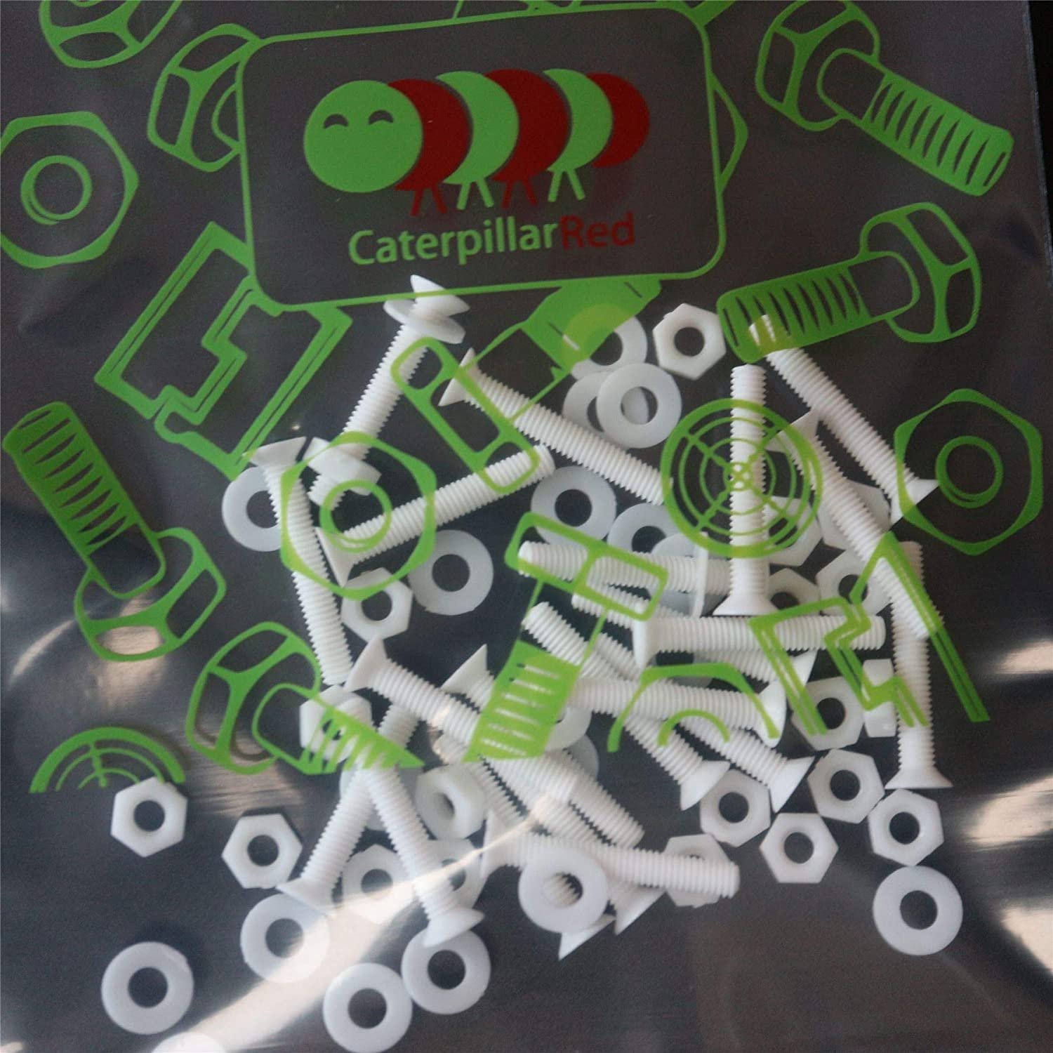 PP Anti-Corrosion M3 x 20mm Water Resistant Acrylic Washers 1//8 x 25//32 Chemical Resistant 20 x White Philips Pan Head Screws Polypropylene Plastic Nuts and Bolts