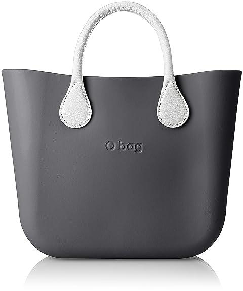 O Bag B002, bolso de mano para mujer, Color Negro, 11 x 31