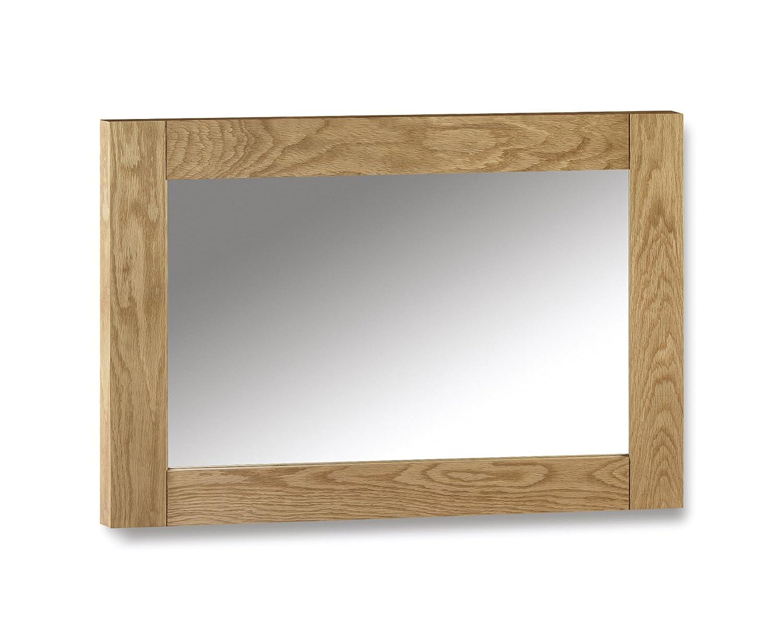 Julian Bowen Marlborough Wall Mirror, Waxed Oak MAR211