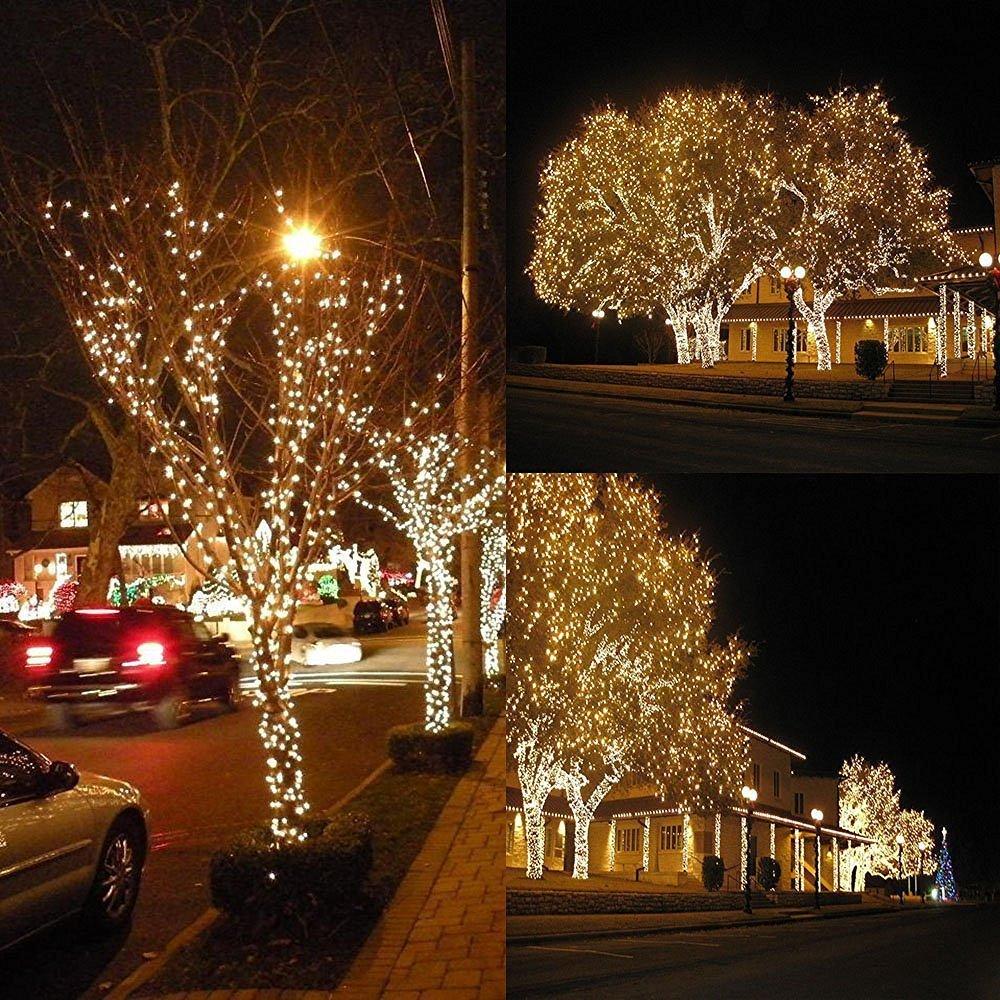 Qedertek Solar Lichterkette Weihnachten, Solar oder Batterie ...