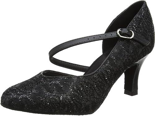 So Danca BL184 Damen Anfänger Standard Latein Training Tanz Schuhe schwarz