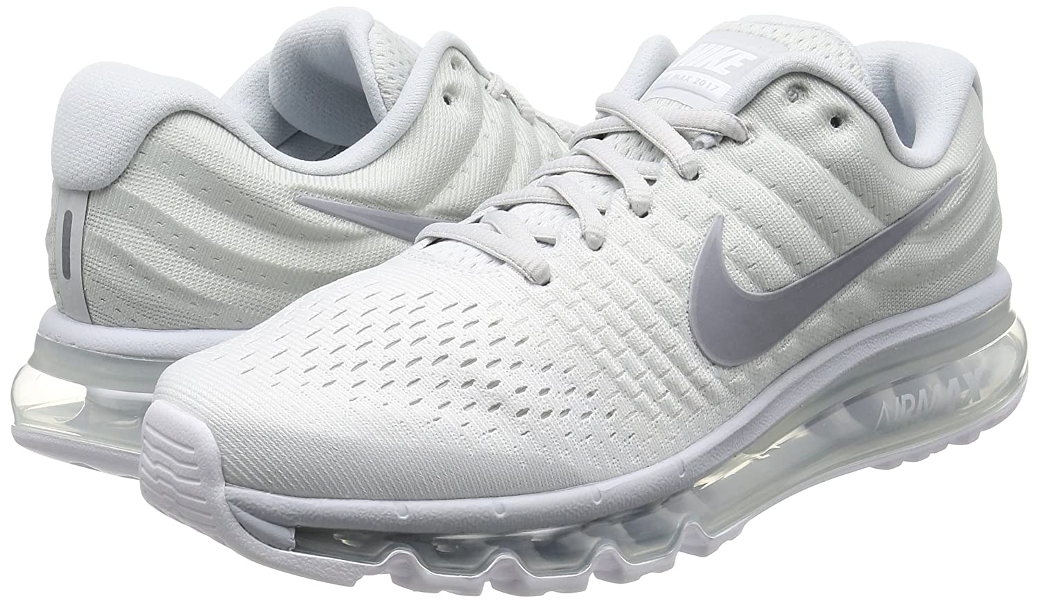 cheap for discount a7fff 70327 Amazon.com   Nike Mens Air Max 2017 Pure Platinum Wolf Grey White Off White  Nylon Cross-Trainers Shoes 6.5 D US   Shoes