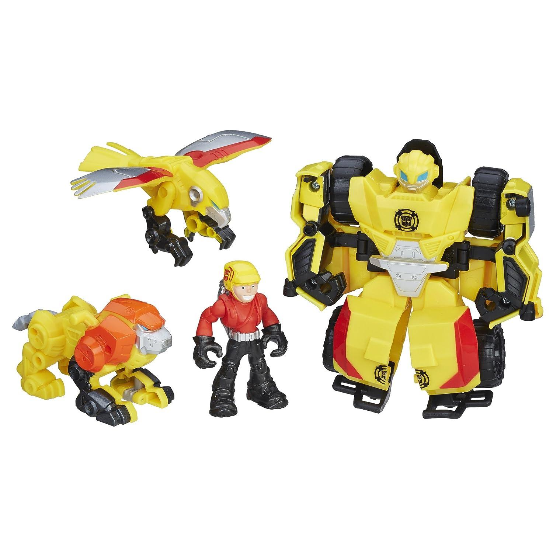 Transformers Playskool Heroes Rescue Bots Bumblebee Rock Rescue Team Team Team 5d6437