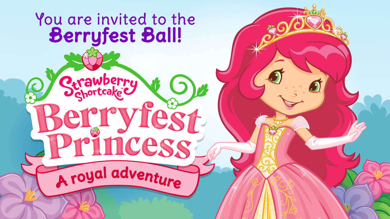 Strawberry Shortcake Berryfest Princess Coloring Pages