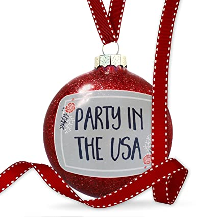 Christmas In July Party Clipart.Amazon Com Neonblond Christmas Decoration Party In The Usa