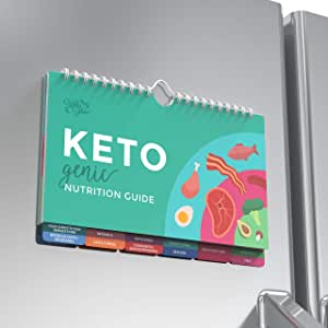 Willa Flare Keto Cheat Sheet Magnets - Easy Reference for 192 Keto Snacks and Foods! Correct Ketogenic Measurements for Your Keto Cookbook - Easy Keto Diet Fridge Guide Plus Extra List of 500 Foods