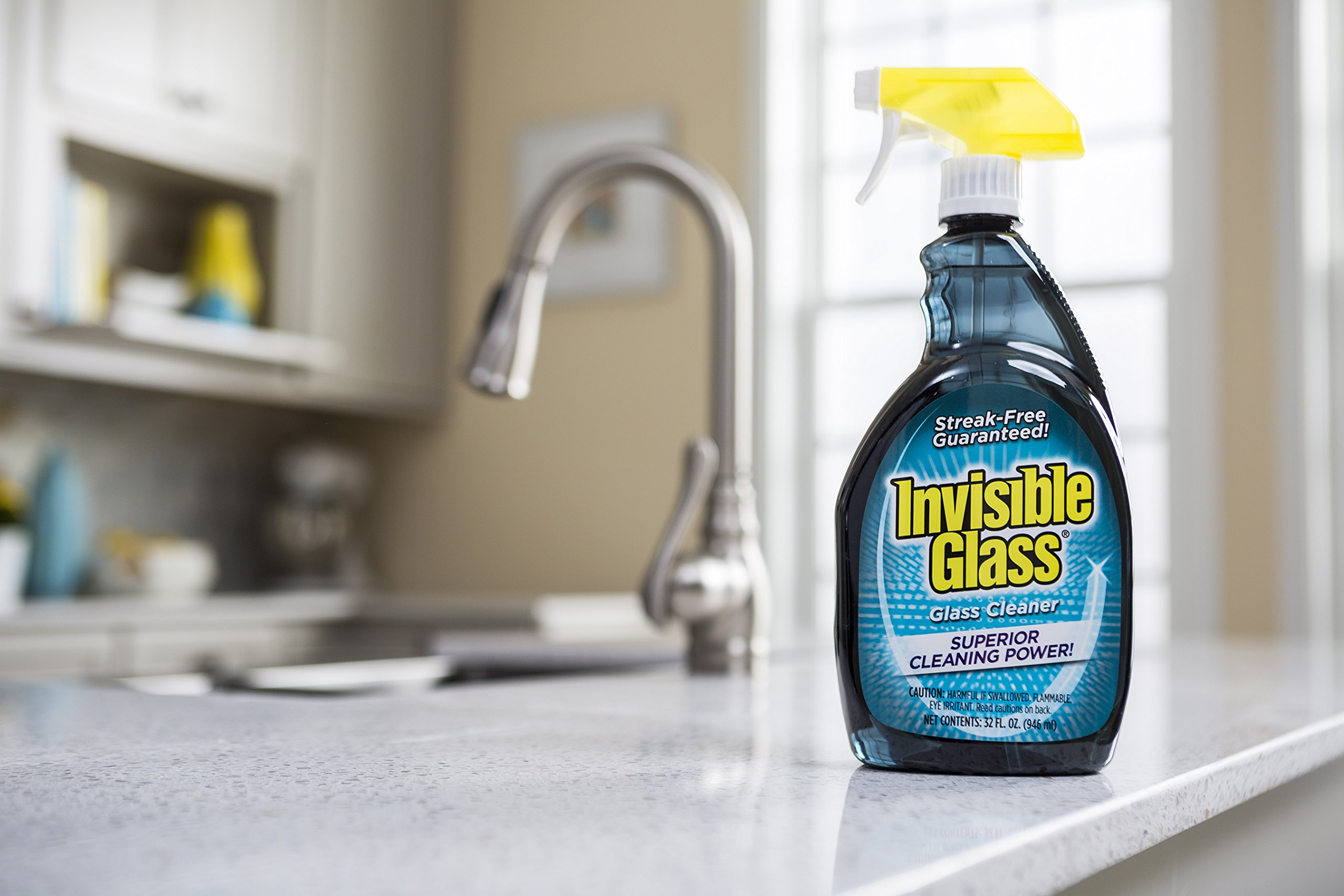 Invisible Glass 92196-6PK 32 oz. - Cleaner and Window Spray for Home and Auto for a Streak-Free Shine. Film-Free Glass Cleaner Safe for Tined and Non-Tinted Windows. Windshield Film Remover, Set of 6 by Invisible Glass (Image #2)