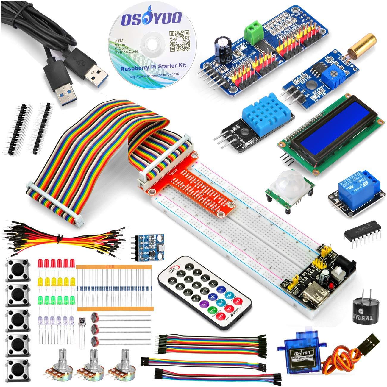 Awesome Osoyoo Raspberry Pi 3 Starter Kit Diy Electronic Rpi Learning Kit Wiring Cloud Usnesfoxcilixyz