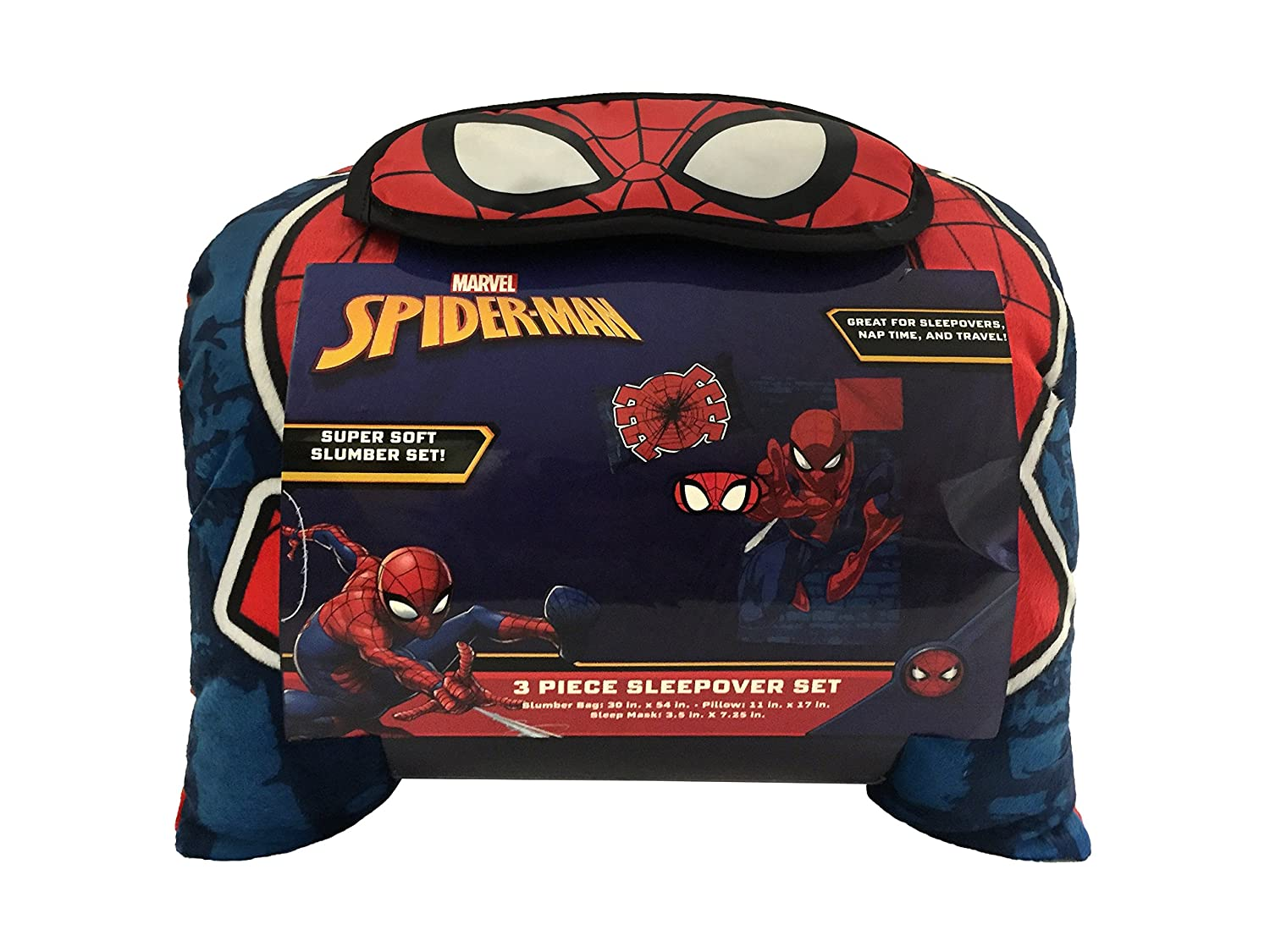 Jay Franco Marvel Black Panther 3 Piece Sleepover Set Official Marvel Product Cozy /& Warm Kids Slumber Bag with Pillow /& Eye Mask