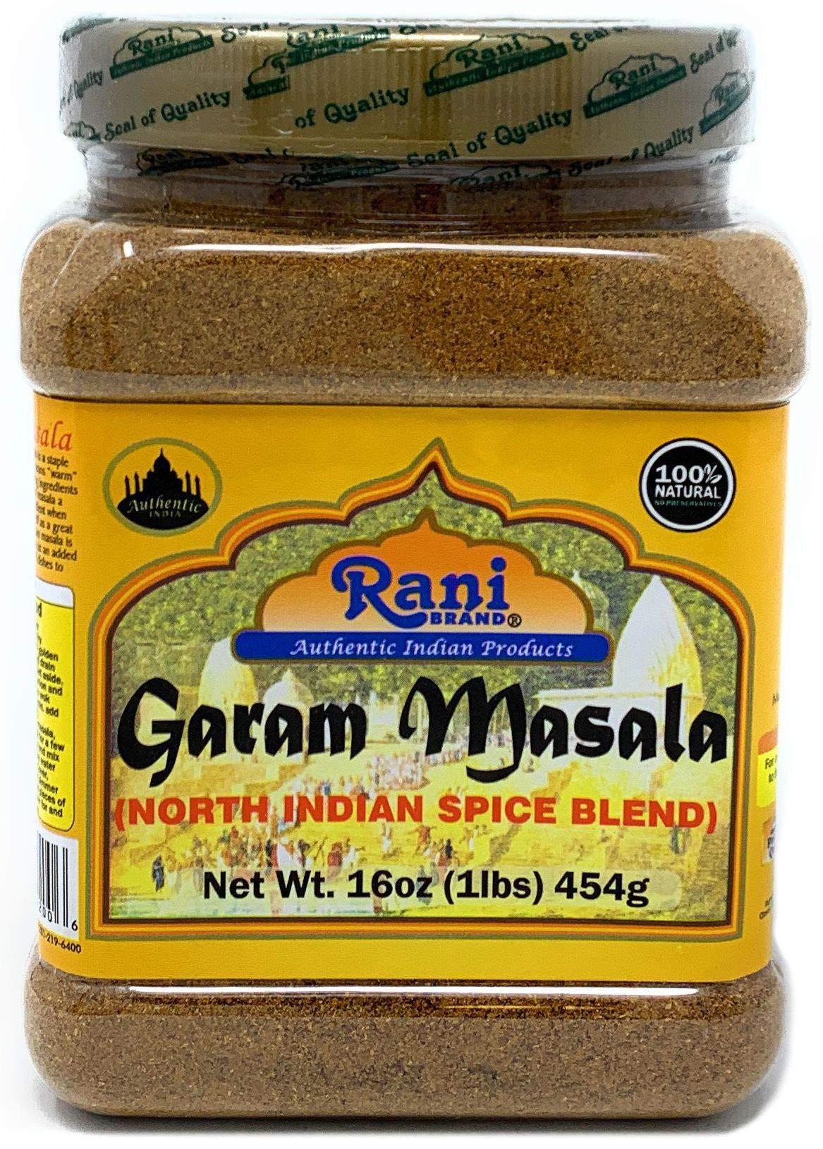 Rani Garam Masala Indian 11-Spice Blend 1lb (16oz) 454g ~ All Natural, Salt-Free   Vegan   No Colors   Gluten Friendly   NON-GMO   Indian Origin