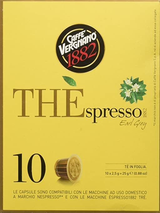 4 opinioni per Caffè Vergnano 1882 THÈspresso1882 Earl Grey- Compatibili Nespresso [3