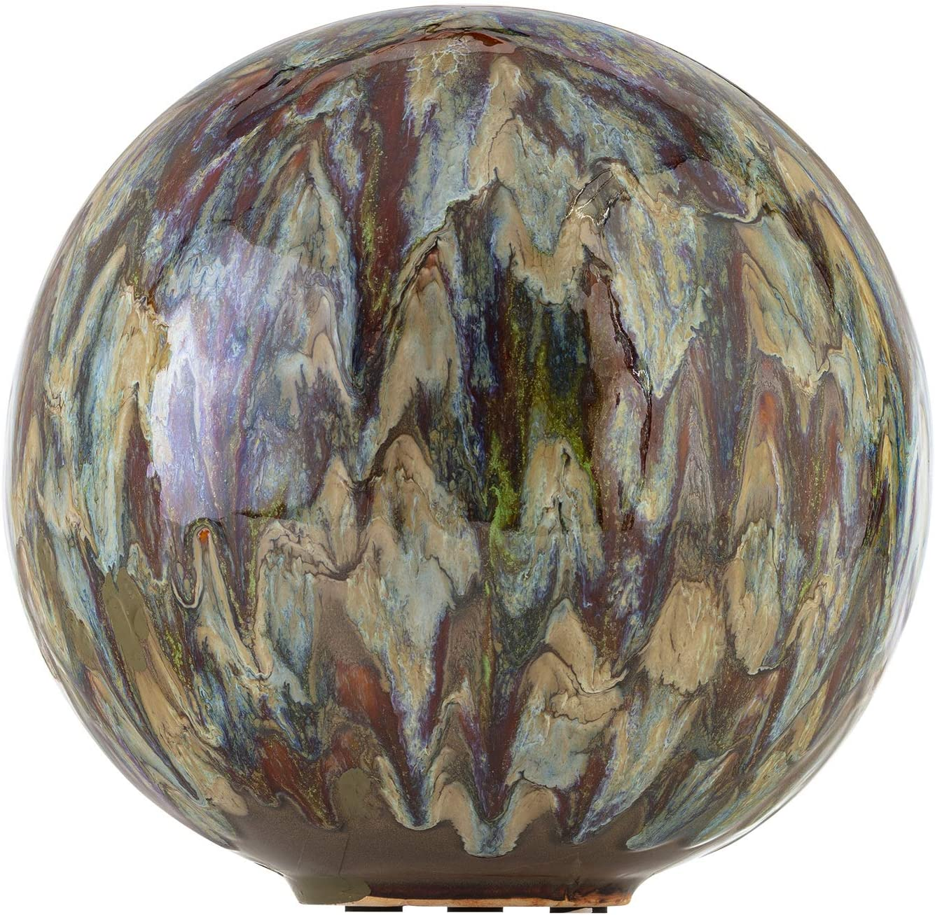 Alpine Corporation, Multicolor Alpine TOM252 Ceramic Gazing Globe, Tall Color, 10""