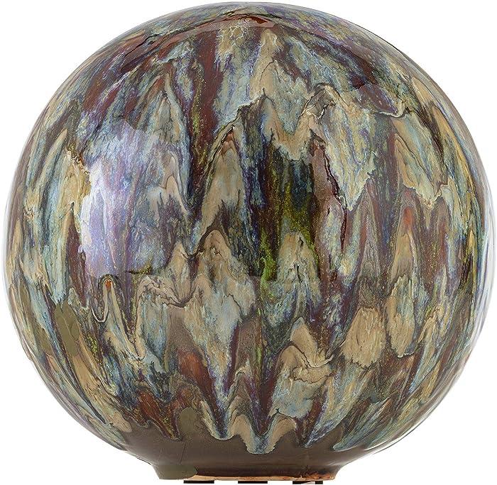 "Alpine Corporation, Multicolor Alpine TOM252 Ceramic Gazing Globe, Tall Color, 10"""