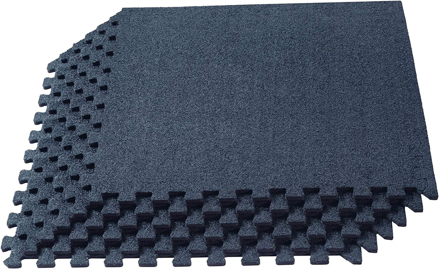 We Sell Mats 3/8 Inch Thick Interlocking Foam Carpet Tiles, Durable Carpet Squares, Anti-Fatigue Support for Home, Office, or Classroom Use, 24 in x 24 in