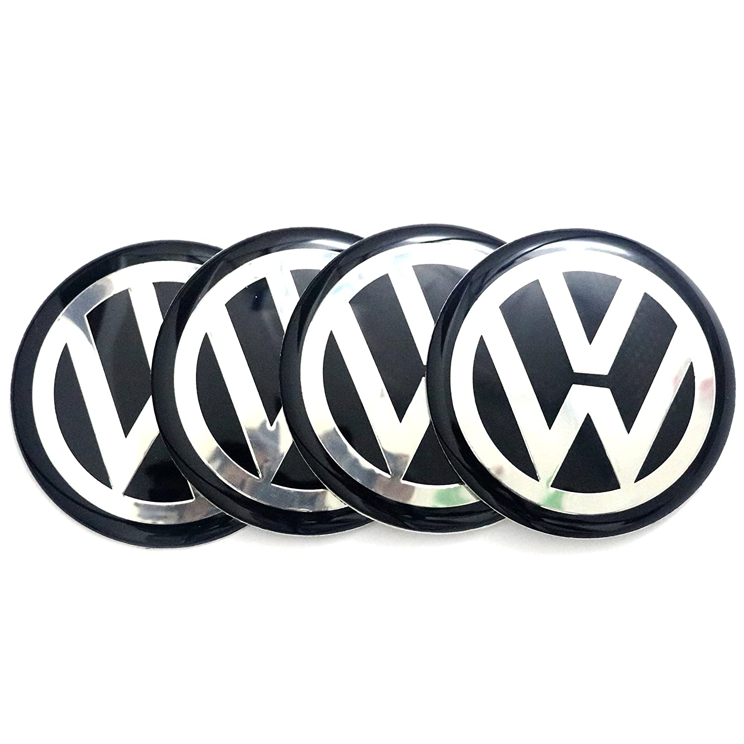 4x 65MM/2.56' Epoxy Domed Wheel Center Hub Cap Sticker Decal Emblem For VW Stream